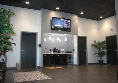 Robertson Automotive Metal Building Waiting Room
